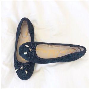 Sam Edelman Charm Fabric Felicia Teal Flats